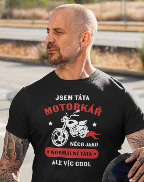 Pánské triko Táta motorkář