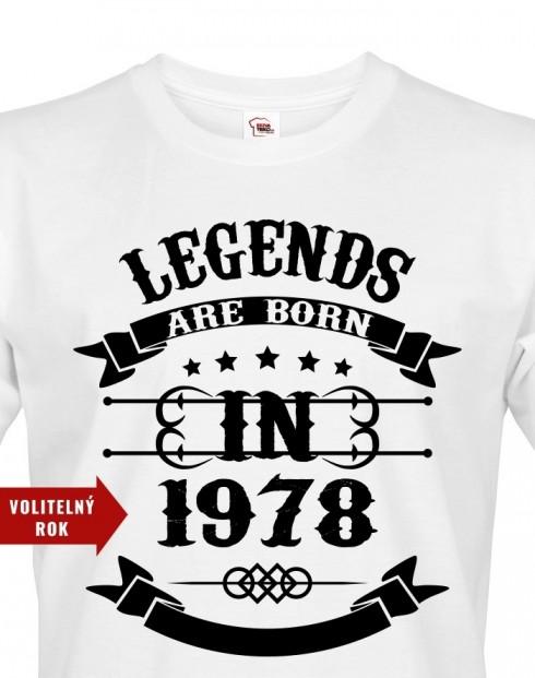 Pánské tričko Legend Are Born