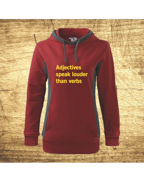 Adjectives speak louder than verbs