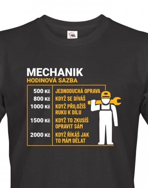 Pánské tričko hodinová sazba mechanik