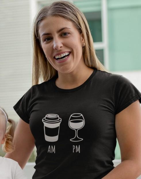 Dámské tričko Víno a káva