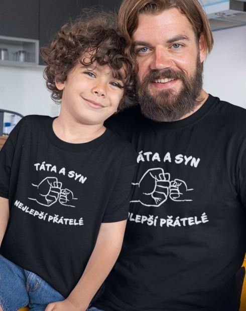 Set triček táta a syn - nejlepší přátele