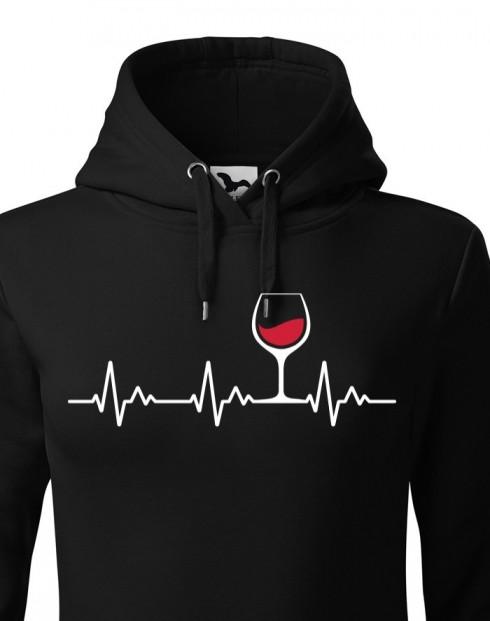 Dámská mikina Tep vína