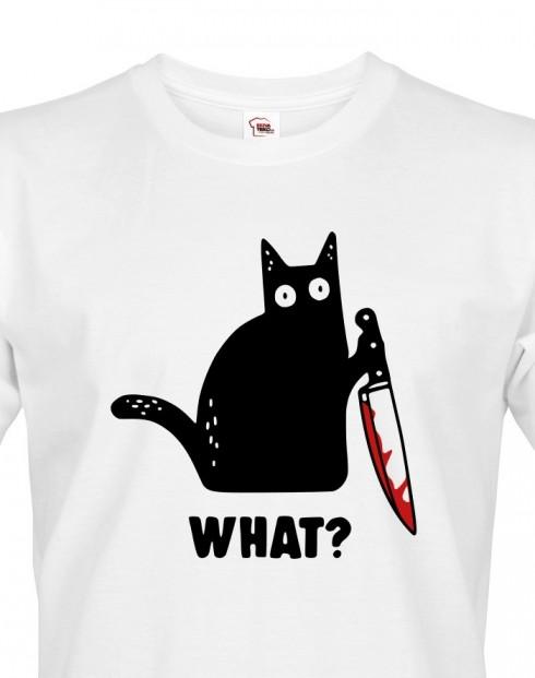 Pánské triko s kočkou What