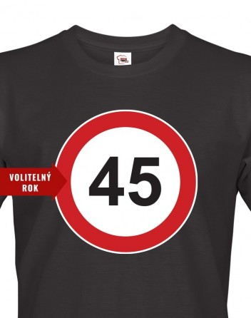 Pánské tričko se značkou a volitelným věkem