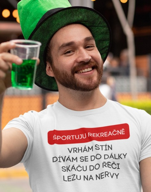 Pánské tričko Sportuji rekreačně