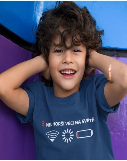 Dětské tričko 3 nejhorší věci na světě