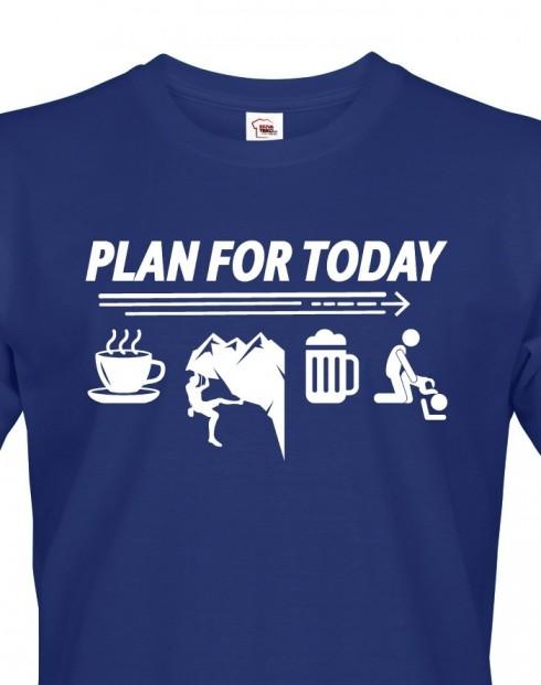 Pánské tričko Plan for Today