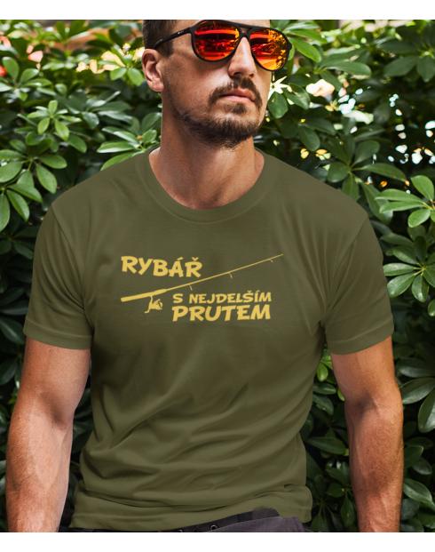 Rybářské tričko Rybář s nejdelším prutem