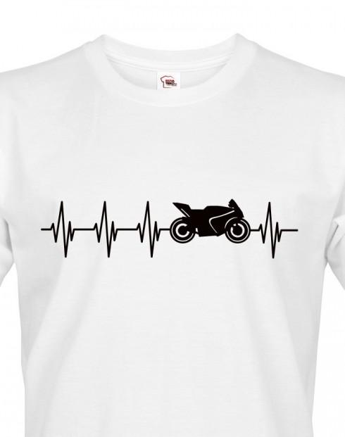 Pánské triko Tep motorkáře
