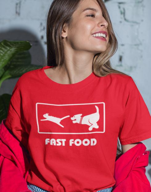 Dámské tričko - Fast Food