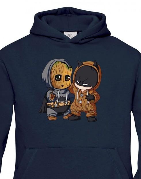 Dětská mikina Batman a Groot