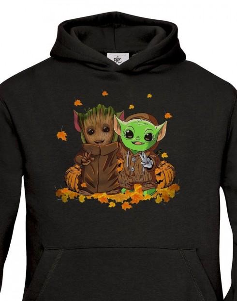 Dětská mikina Mistr Yoda a Groot