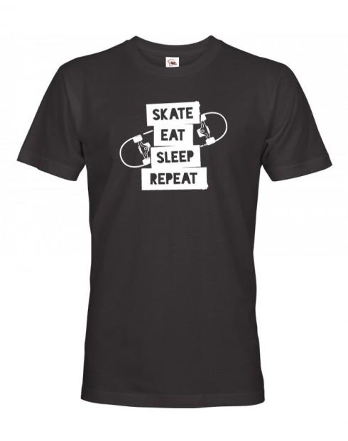 Panské tričko Skate-eat-sleep-repeat