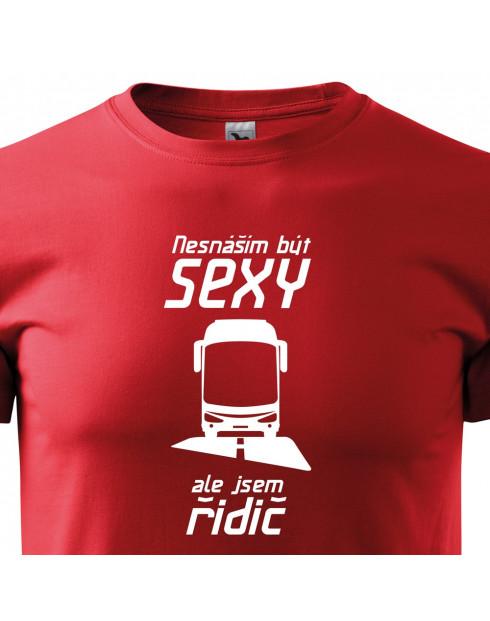Pánské tričko Sexy řidič autobusu