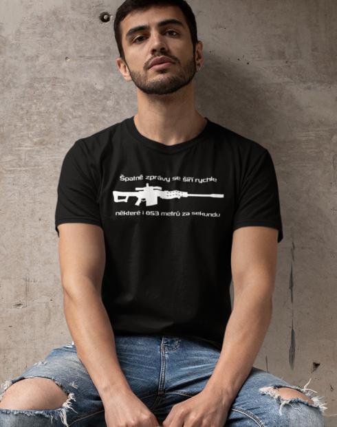 Pánské tričko Špatné zprávy se šíří rychle