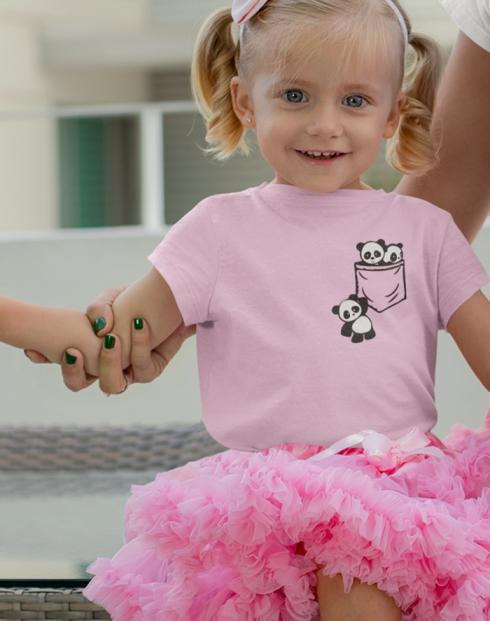 Dětské tričko Pandy v kapse
