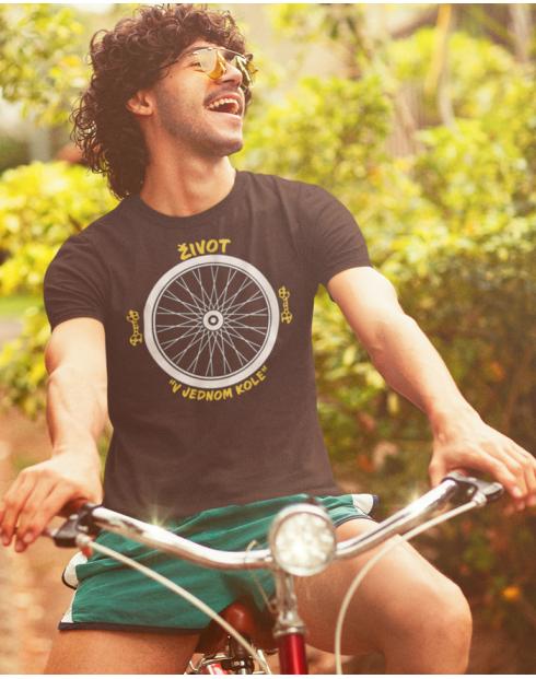 Pánské tričko pro cyklistu Život v jednom kole