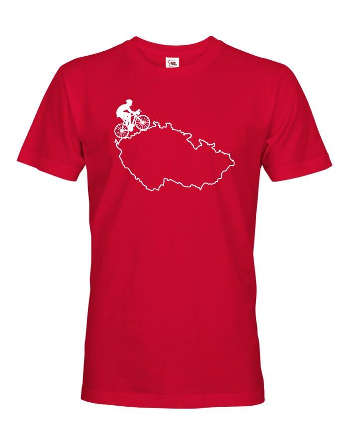 Pánské tričko pro cyklisty s mapou Čr