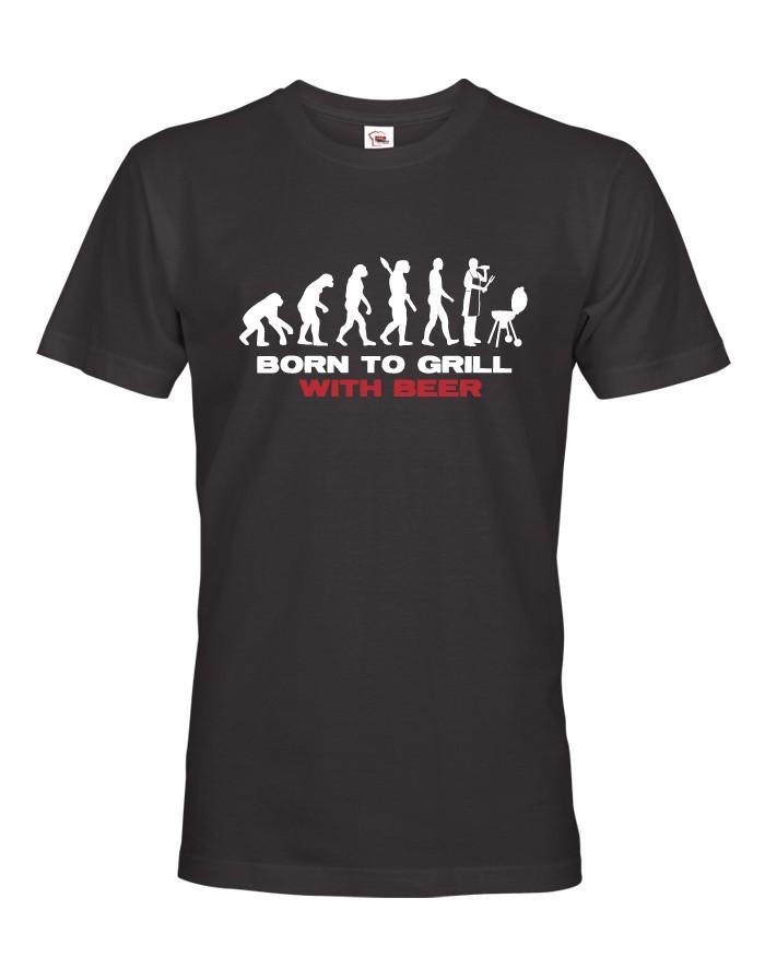 Pánské tričko Narozen pro grilování