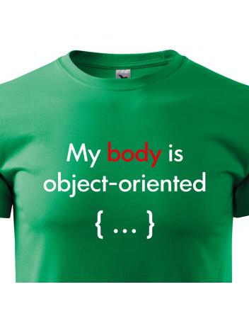 Pánské tričko pro programátory My body is object oriented