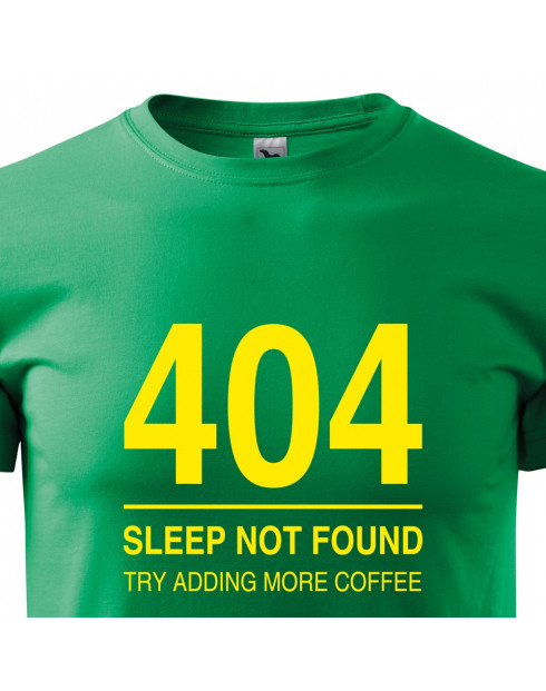 Pánské tričko pro programátory 404 sleep not found