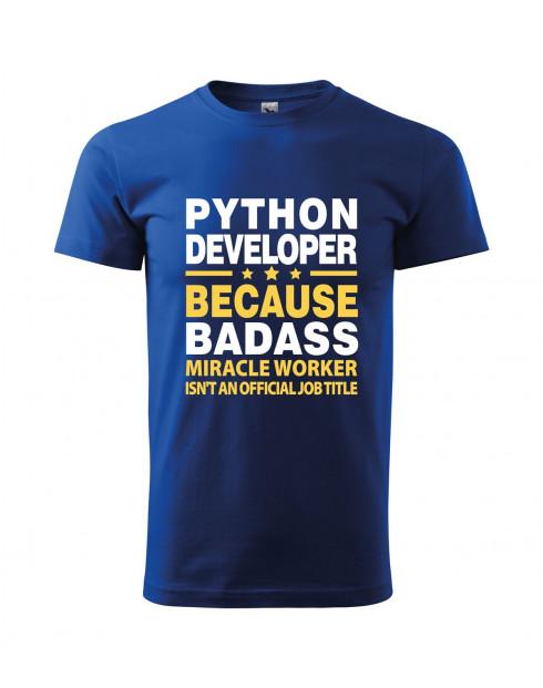 Pánské tričko pro programátory Python developer