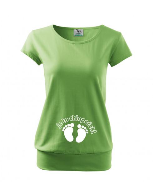 Těhotenské tričko Je to chlapeček